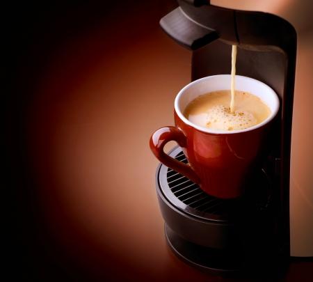maquina de vapor: Caf� Espresso Foto de archivo