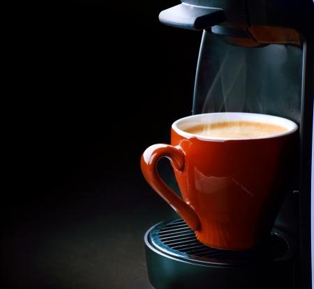maquina vapor: Caf� Espresso Foto de archivo
