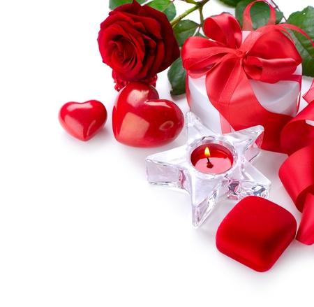 valentijn hart: Valentine Border ontwerp Stockfoto