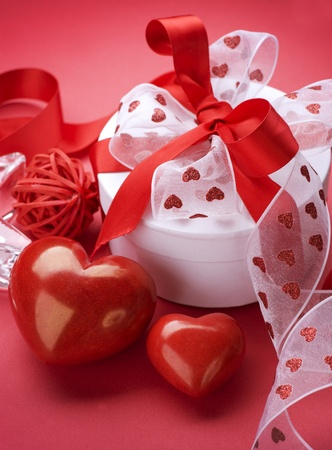 st valentine day: Valentine Gift  Stock Photo