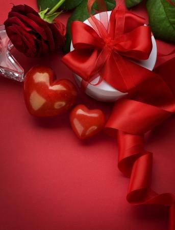 San Valentín de diseño de tarjetas con espacio para el texto Foto de archivo