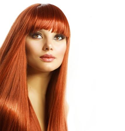 pelo rojo: Belleza Retrato. Cabello Saludable