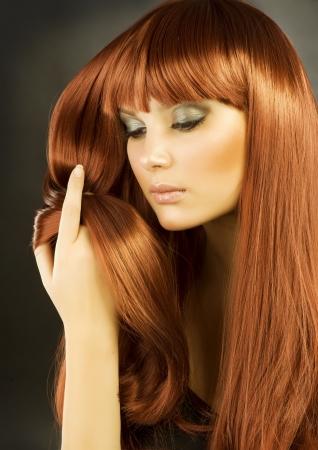 Beauty Portrait. Healthy Hair photo