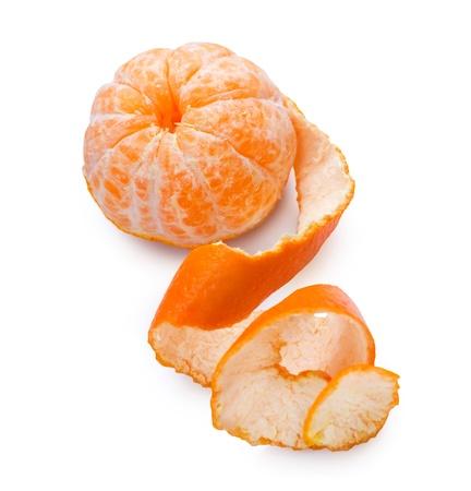mandarine: Mandarine over white Stock Photo