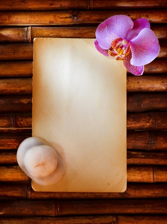 vertical wellness: Spa Design with paper for notes