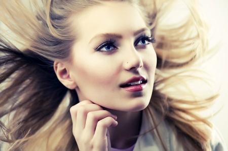 Beautiful Fashion Girl Portrait Stock Photo - 12039823