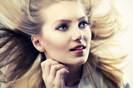 Beautiful Fashion Girl Portrait Stock Photo - 12039823