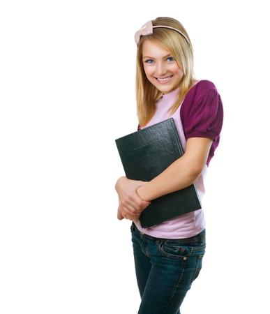 teenager girl: Fashion Teenage Student Girl  Stock Photo