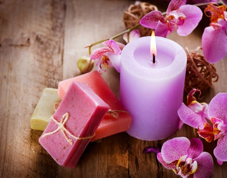 candles spa: Spa Handmade Natural Soap
