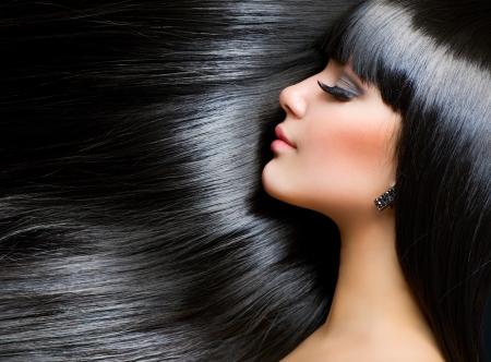 Mooie brunette meisje. Gezonde Long Hair