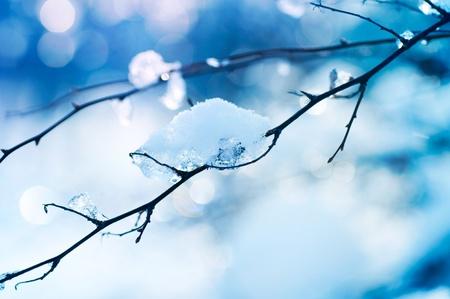 Invierno diseño de arte. Nieve Foto de archivo
