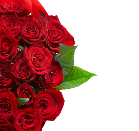 Red Roses Bouquet Grenze Lizenzfreie Bilder