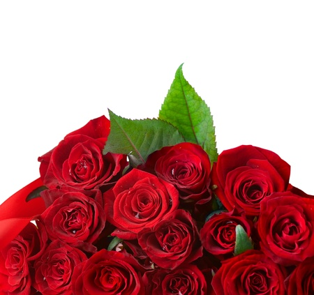 bunch up: Red Roses Bouquet border