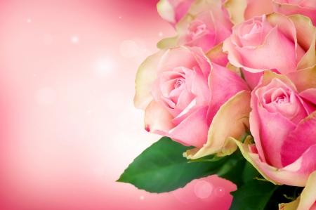 Rose Flower Art Design. Kaart van het Huwelijk Stockfoto