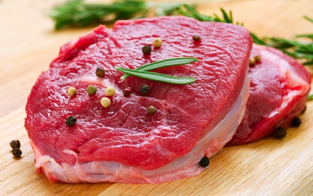 Raw Beef Steak  photo