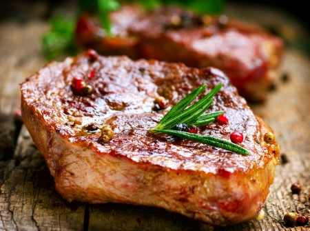 at meat: Steak  Stock Photo
