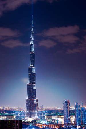dubai mall: Dubai, UAE  Burj Khalifa  Night view