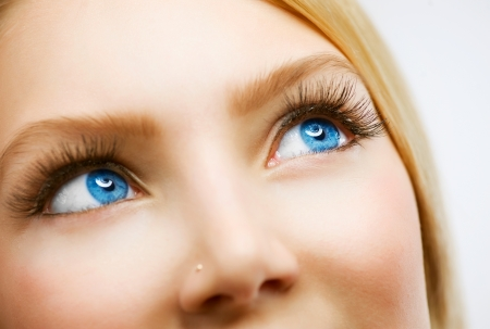 cornea: Blue Eyes  Stock Photo
