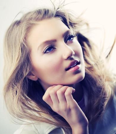 Moda Hermosa Chica Retrato