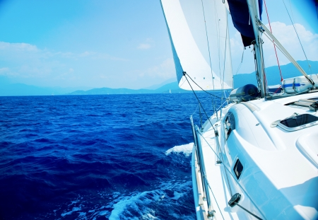 Yacht Sailing. Sailboat  photo