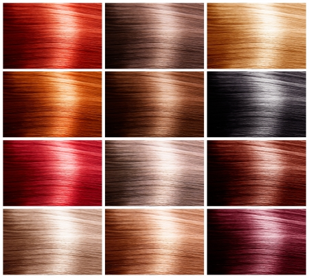 hair coloring: Hair Colors Set. Tints