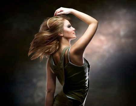 Fashion Dancing Girl. Disco photo