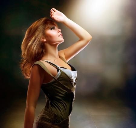 blond brown: Fashion Dancing Girl. Disco