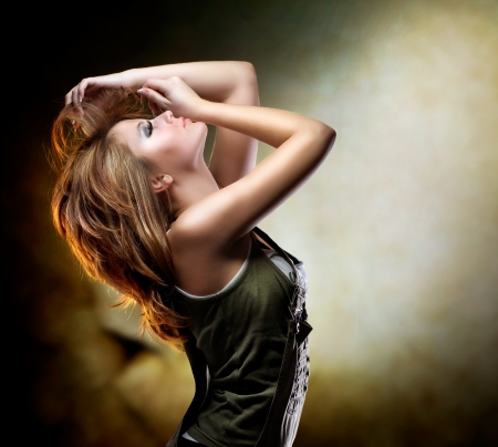 Fashion Dancing Girl. Disco Stock Photo - 12382084