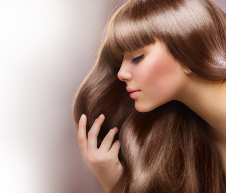 Blond Hair. Beautiful Woman with Straight Long Hair Stock Photo - 12382083
