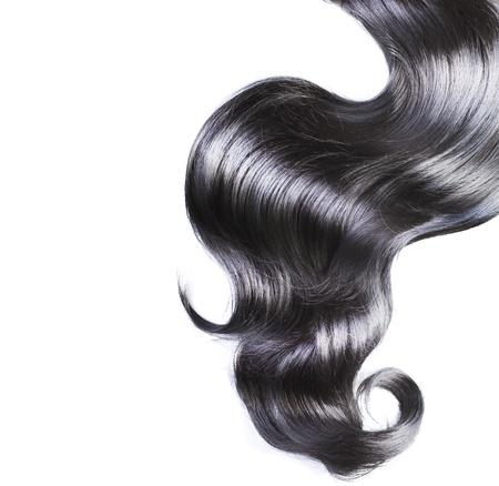 černé vlasy: Černé vlasy nad bílá Reklamní fotografie