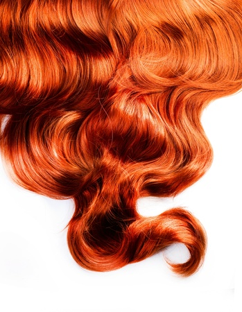 Rood Haar Op Witte