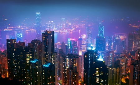 hong kong night: Hong Kong Nght View