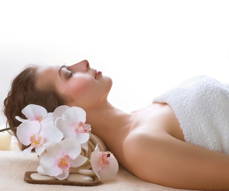 woman in spa: Spa Woman