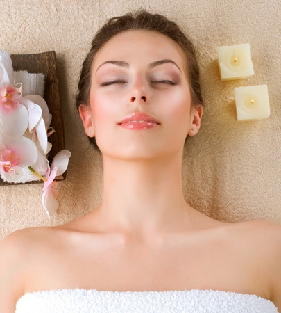 Spa Woman in Beauty Salon  photo