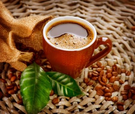 burlap: Coffee  Stock Photo