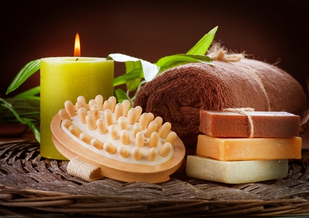 scented candle: Spa