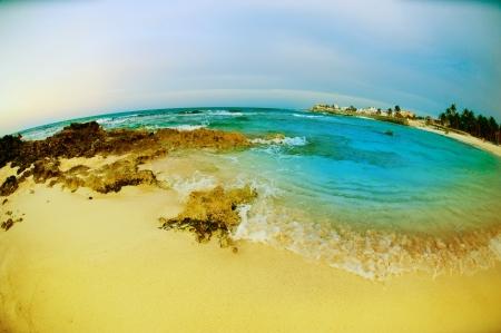 Seascape fisheye view  Isla Mujeres, Mexico  photo