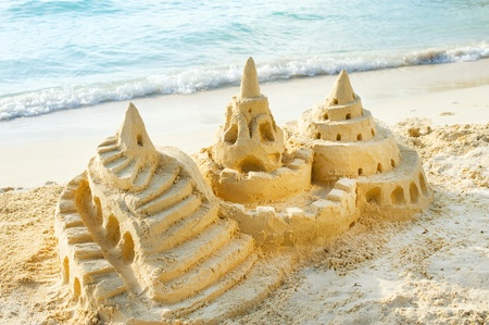 Sand Castle on the Beach  Stock Photo - 13140095
