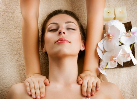 Spa Massage  Beauty Woman Getting Massage Stock Photo - 13173049