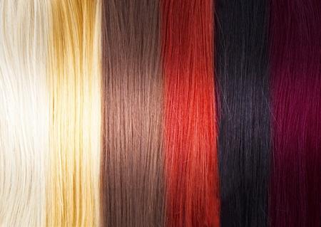 人間の髪の毛: 髪の色パレット 写真素材