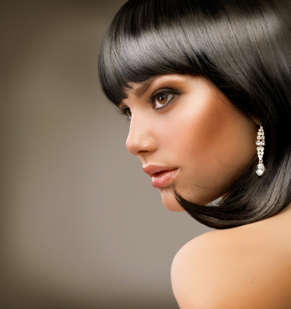 Beautiful Brunette Girl  Haircut  Hairstyle