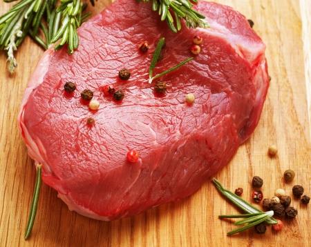 carne cruda: Bistecca di manzo Raw Archivio Fotografico