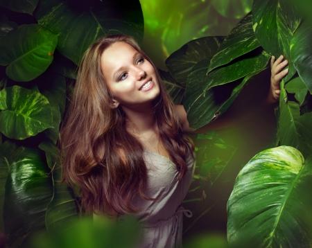 Beautiful Girl in Jungle  photo
