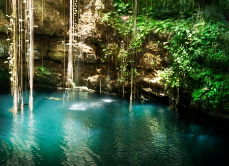 Ik-Kil Cenote, Chichen Itza, Mexico photo