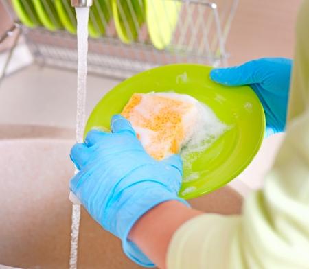 세탁기: 식기 프로세스 접시 세척