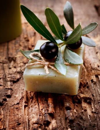 productos de limpieza: Hechos a mano de oliva jab�n org�nico cosm�ticos