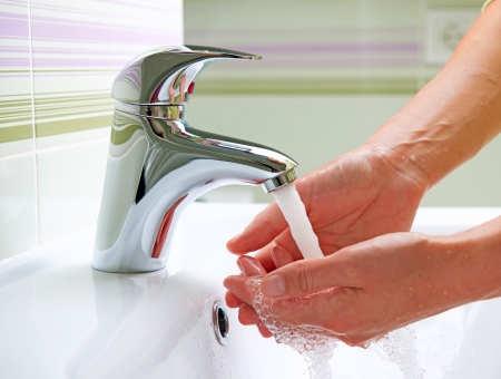 washing hand: Washing Hands  Cleaning Hands  Hygiene  Stock Photo