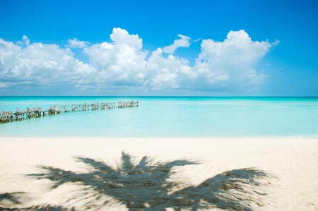 caribbean: Paradise Island  Vacation and Tourism concept Stock Photo
