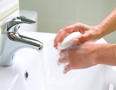 soap bar: Washing Hands  Cleaning Hands  Hygiene Stock Photo