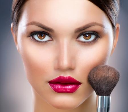 Trucco Make-up Viso Archivio Fotografico